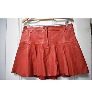 Thakoon leather skirt